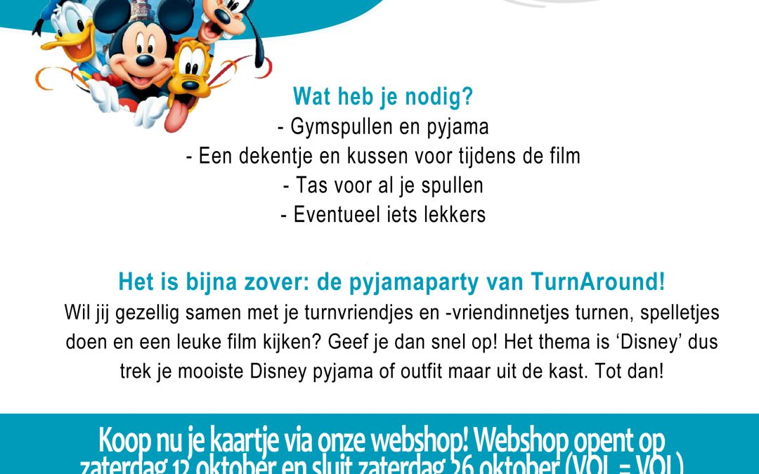 TurnAround Disney Pyjamaparty! 8 november 2019