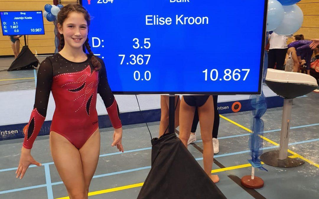 TurnAround turnster Elise Kroon door naar de 1/2 finale turnen